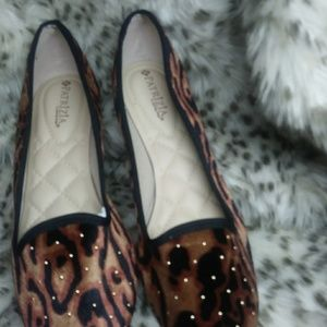 """Spring step """" Patrizia . cute gold studded loafers"""